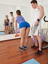 Amazing Teenage Cutie Seduced By Her Nasty Fitness Coach - Picture 3